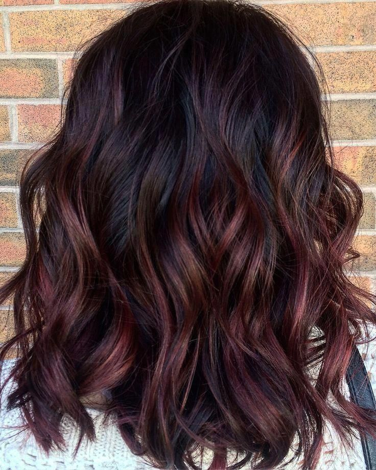 Dark Brown Hair With Red Highlights Red Hair With Hair Redhair Darkbrownhair In 2020 Red Balayage Hair Red Ombre Hair Red Highlights In Brown Hair