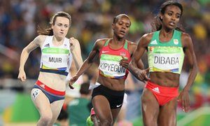 GB athletes have 'doubts' over result of women's 1500m Rio race • Team GB's Laura Muir: 'I have my doubts, let me say that' • Silver medallist Genzebe Dibaba: 'I'm crystal clean from doping'