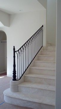 Looking at treatment of railing in this photo, not railing design This Railing pattern was originally used in a Monastery in France.