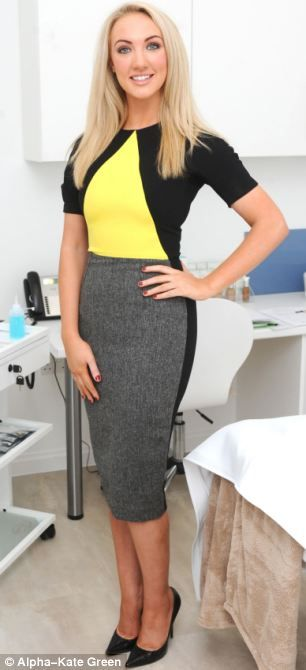Apprentice winner Dr Leah Totton (pictured) yesterday opened her first cosmetics clinic