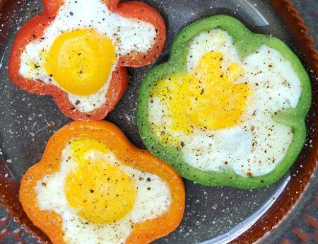 flower power eggs