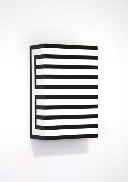 "Richard Roth, ""Return to Sender II"", 2012, Acrylic on birch plywood panel, 12 x 8 x 4 inches"
