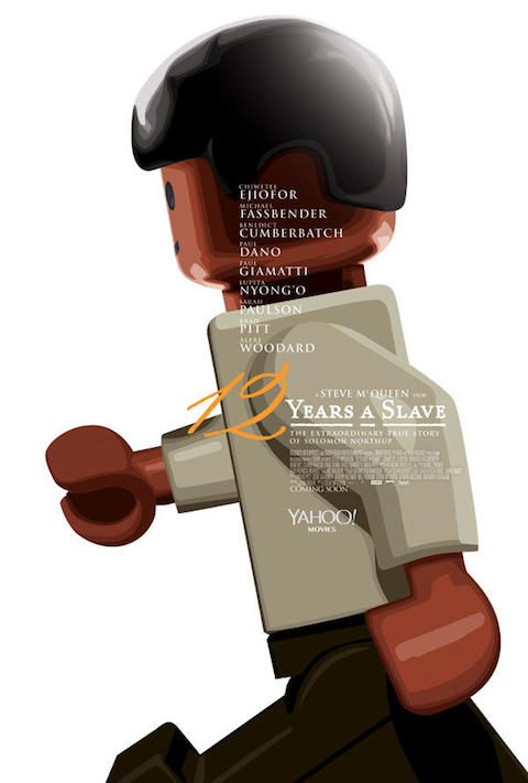 12 Years A Slave - Carteles de películas nominadas al Oscar 2014 recreados con LEGO