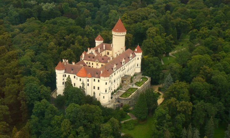 Konopište Chateau - Constructed in the 1280.