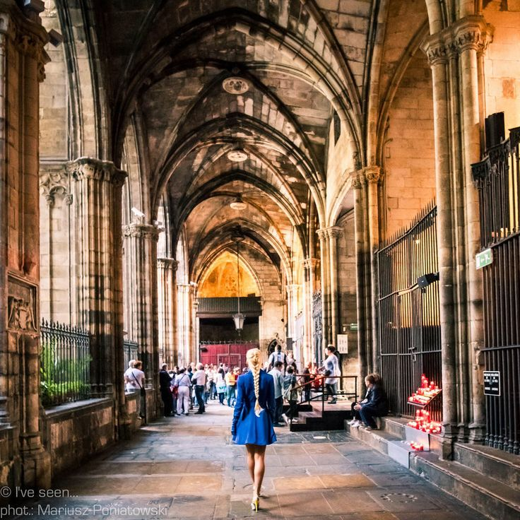 Mysterious interior of Barcelona Cathedral. Cathedral of Barcelona, Barcelona, Catalonia, Spain Travel to Spain with @iveseen_