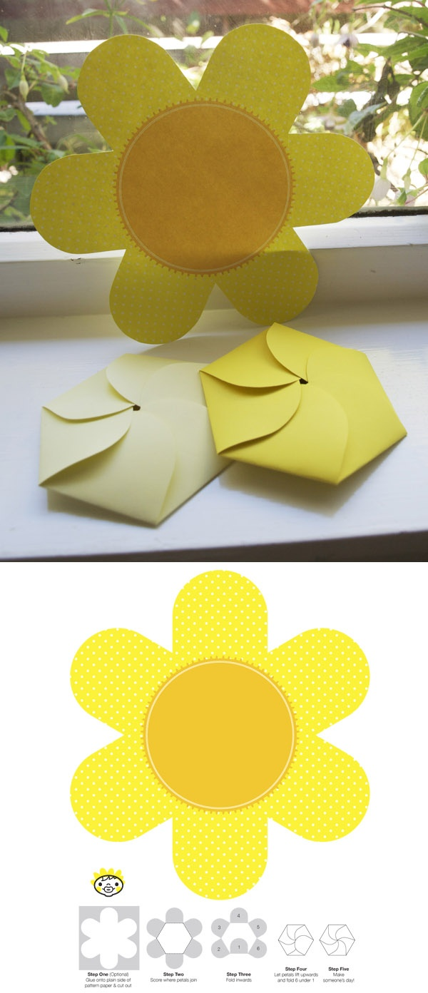 Freebie downloadable flower card.  Bring a smile to someone's face!