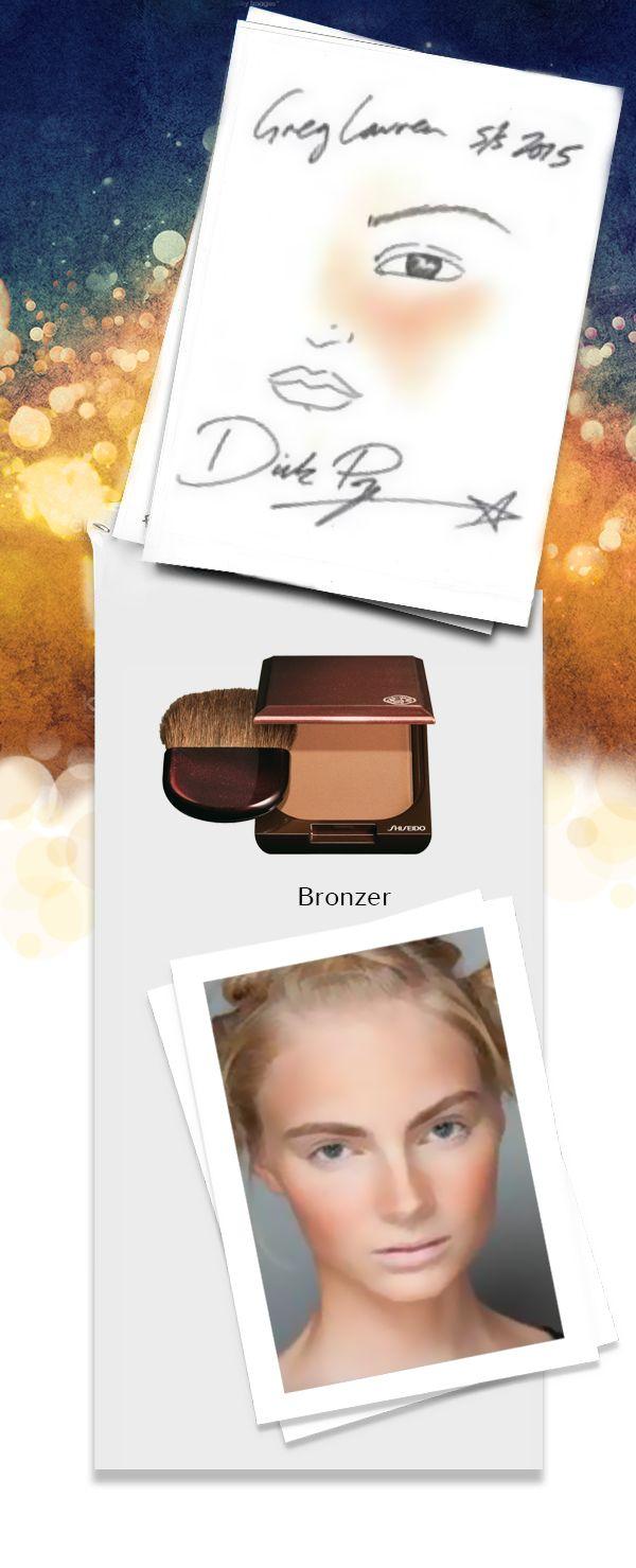 """Il Dick Page #look per Greg Lauren durante la NYFW S/S 2015 è """"tennis tan"""": abbronzatura asimmetrica ma perfettamente credibile per lo stile urban-sporty della #sfilata. Sfumature rigorosamente realizzate con #Shiseido Bronzer. www.shiseido.it"""