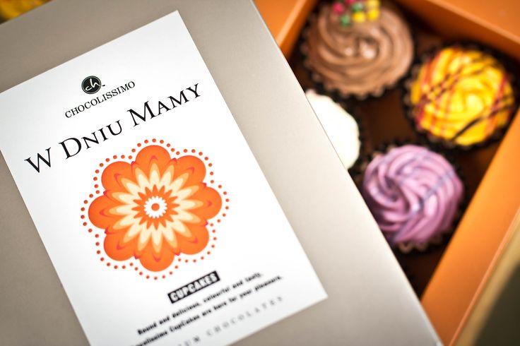 Cupcakes dla Mamy. #chocolate #chocolissimo #giftsideas #czekolada #pomyslnaprezent #dzienmatki #prezentdlamamy