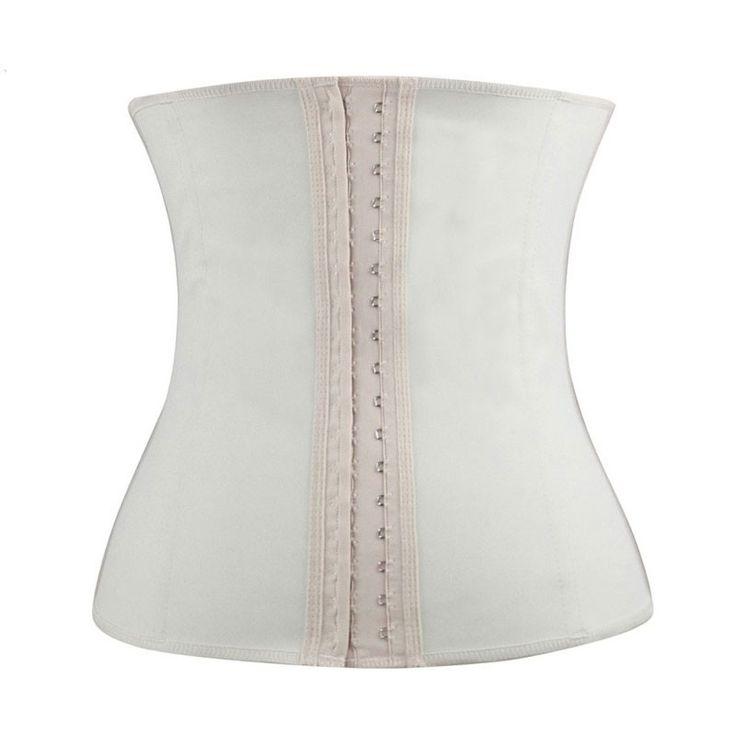Espartilho Branco Cinta Modeladora Treino Fitness Fashion Cintura Definida para vestido de noiva.