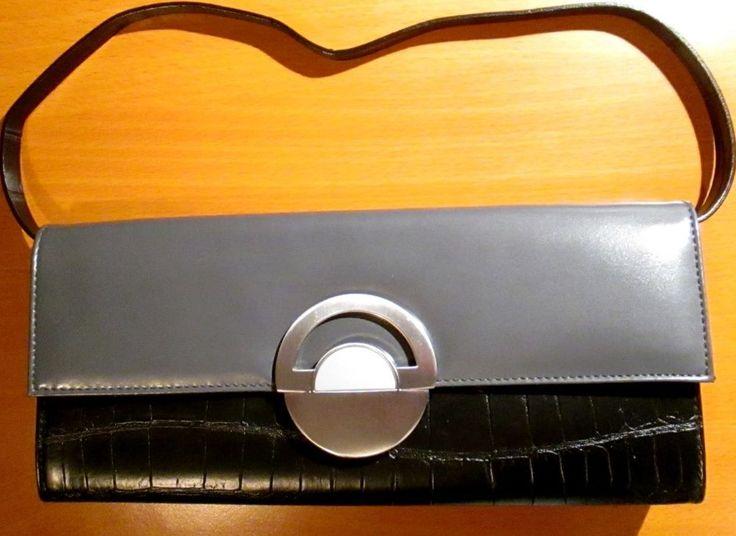 pierre lang clutch schwarz grau taschen pinterest. Black Bedroom Furniture Sets. Home Design Ideas