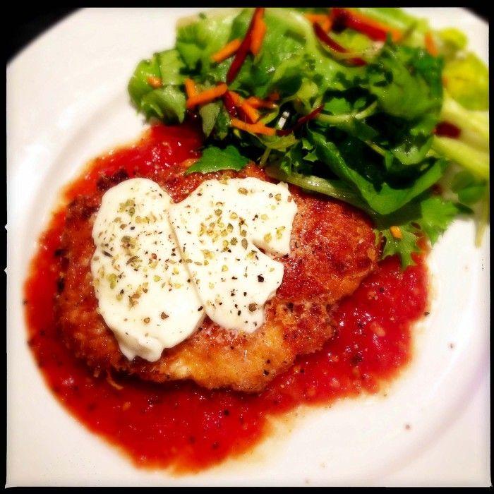 Crispy chicken breast with pizza sauce - Gino D'Acampo