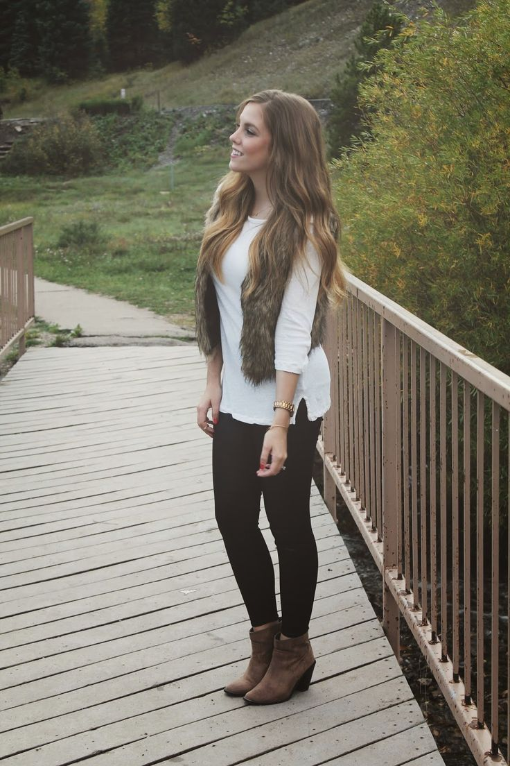 Fo fur vest outfit
