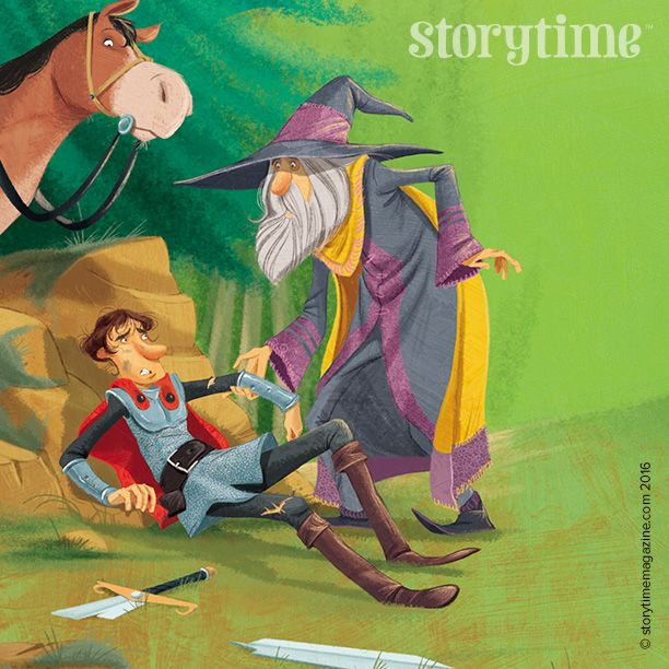 Two brilliant heroes  in Storytime 28– King Arthur AND Merlin! Art by Pablo Pino. ~ STORYTIMEMAGAZINE.COM