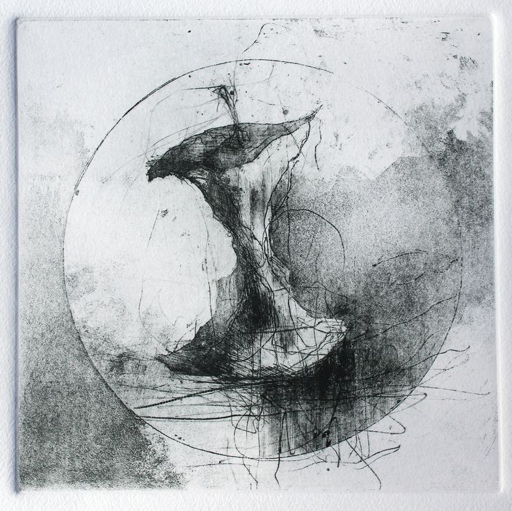 Jake Muirhead, 'Apple Core', etching, spit-bite aquatint, drypoint and dremel