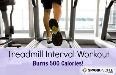 500 Calorie treadmill interval workout! Pinned over 2500 times!