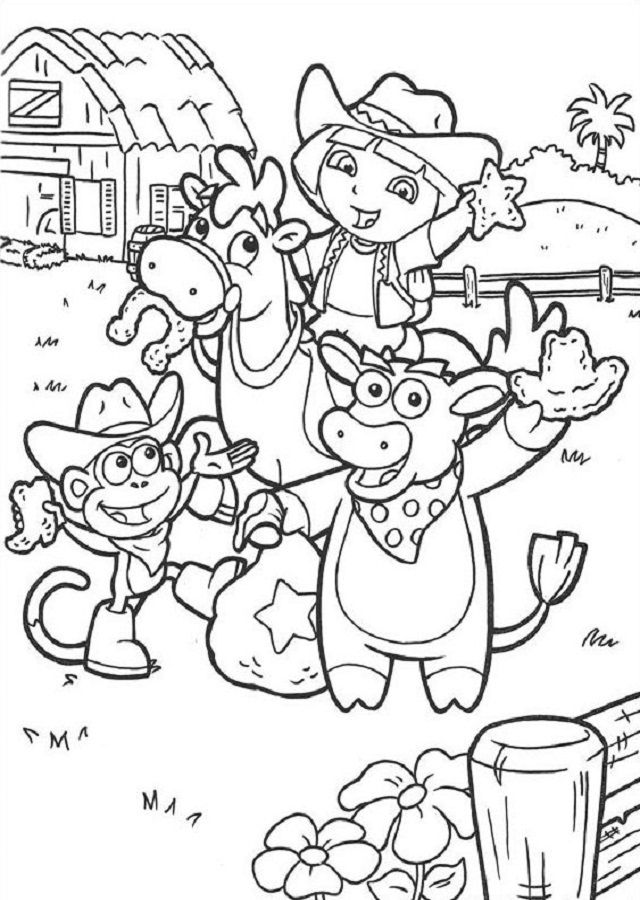 Pin De Dibujosparacolorear En Dora La Exploradora Dora La Exploradora Dibujos Para Colorear Páginas Para Colorear