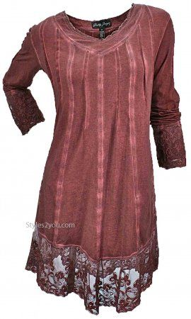 GZ Gemma Tunic PLUS SIZE In Copper Clothing, Shoes & Jewelry - Women - Plus-Size - Wantdo - women big size clothes - http://amzn.to/2lfaYAF