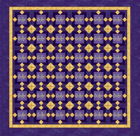 crown Royal quilt Royal quilts   Crown Royal Quilt Made w/ crown royal bags ( FREE EMBROIDERY)