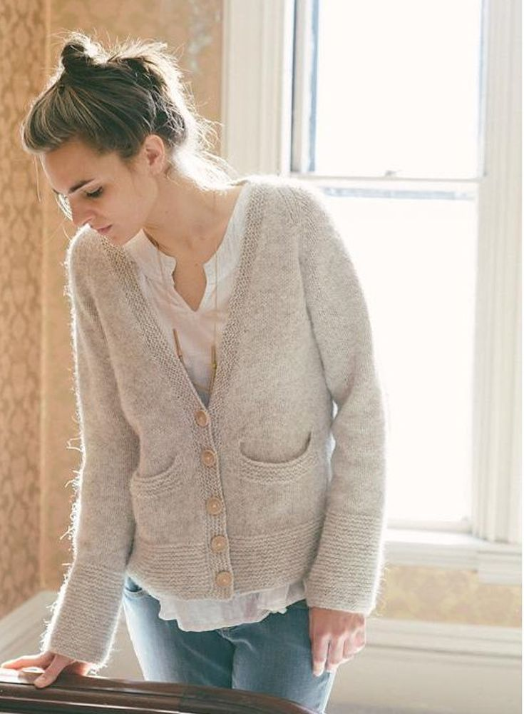 Cute customizable ladies' cardigan from Carrie Bostick Hoge - available on LoveKnitting