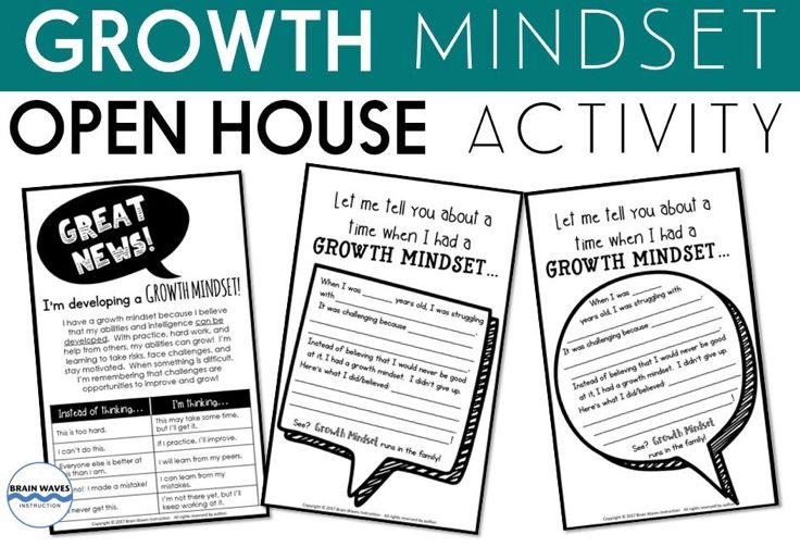 Brain Waves Instruction FREE Open House Growth Mindset Activity!