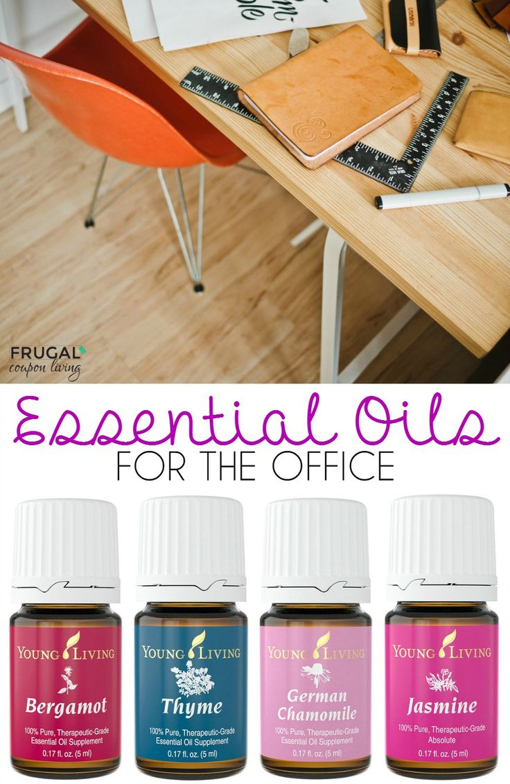Essential Oils for the Office including uses for Jasmine, Thyme, Bergamot, Chamomille and more!