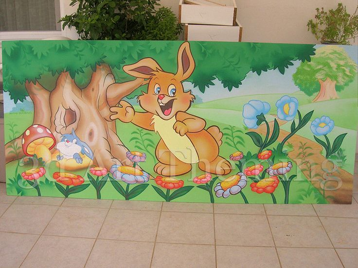 ζωγραφική σε παιδότοπους