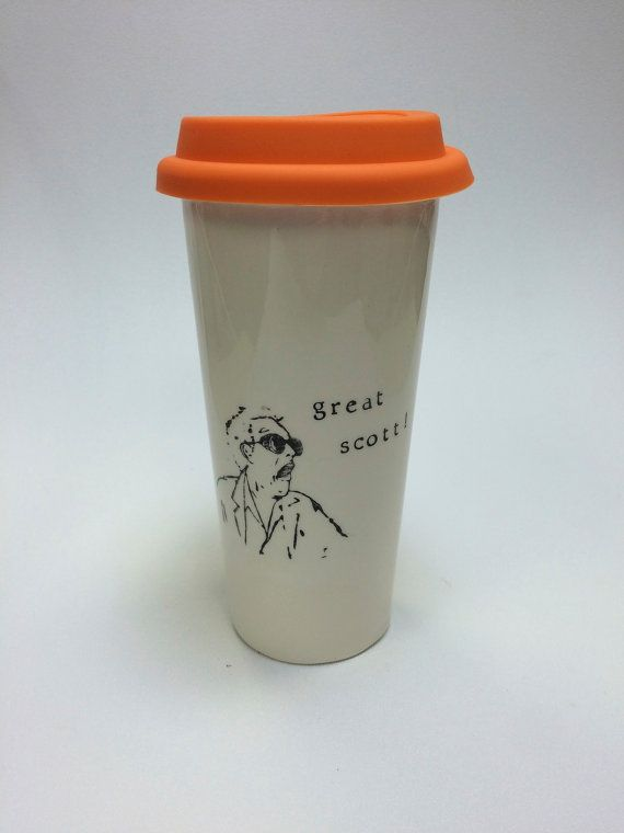 Great Scott Back to the Future ceramic travel mug by printandclay