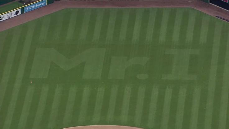 Tigers honor late owner Mike Ilitch with 'Mr. I' cut into Comerica Park outfield http://ift.tt/2n4xyS9 Love #sport follow #sports on @cutephonecases