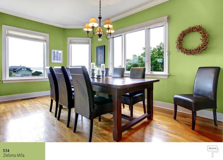 Jadalnia W Kolorze Zielonym