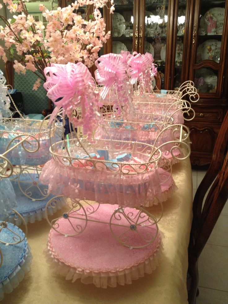 330 best baby showers ideas decor favors games and for Baby carriage decoration