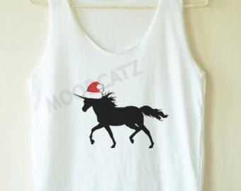Christmas Unicorn shirt funny graphic shirt teen shirts summer top women tank top women tunic top women shirt women tshirt top unisex shirt