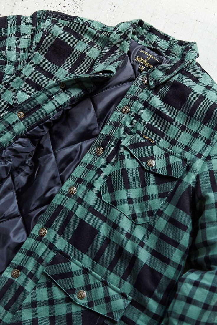 Dark Seas Insulated Flannel Shirt Jacket Insulated