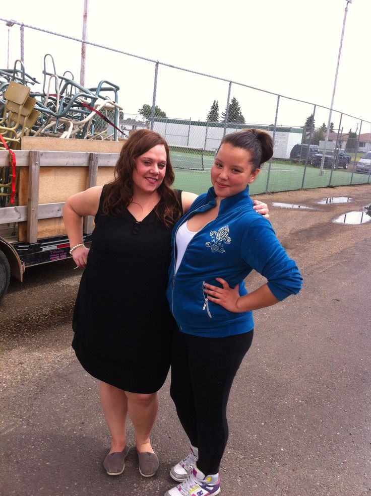 Mrs Newbury my teacher with Shayla