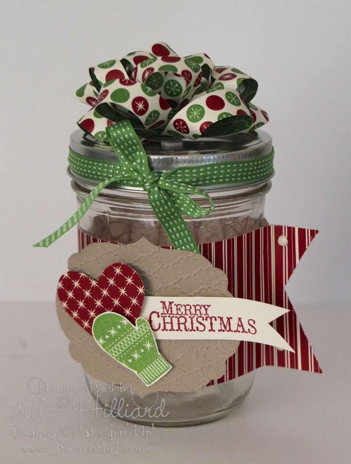 Jill's Card Creations: Merry Christmas Mason Jar