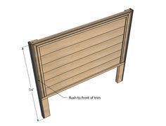 Full size headboard plans from Ana White                                                                                                                                                                                 More