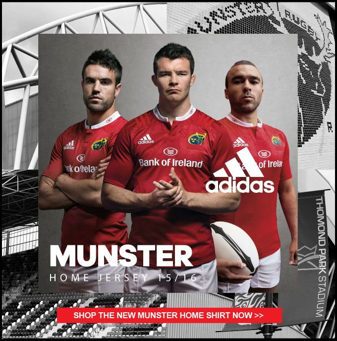 Munster Rugby Shirt and Kit 2015/16 - www.uk-rugby-shop.co.uk