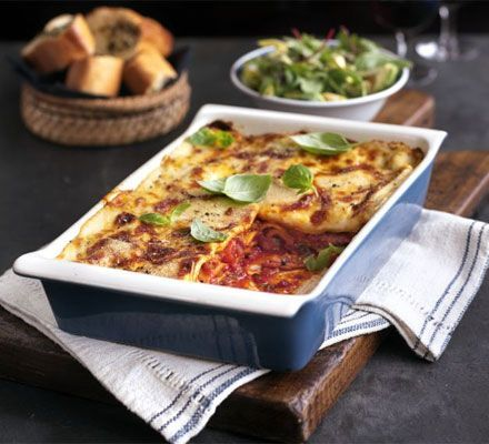 Cheese & bacon lasagna     This freezable, family-friendly recipe is economical and has a wonderful comfort-food feel about it