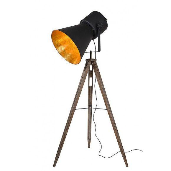 Moderní stojací lampa - designová lampa, inspirace osvětlení, černá lampa
