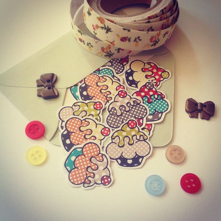 Cute cupcake stickers from Fun2Art soon on our Etsy shop! Follow us to be update