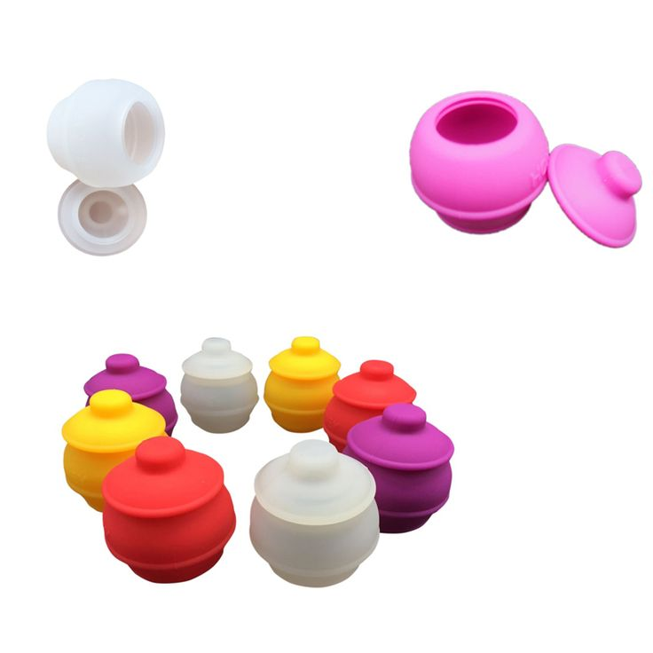 35 Ml Honeypot Non-stick Silicone Oil Wax Dab Jar Container Oil Slicks 3 Pcs/lot