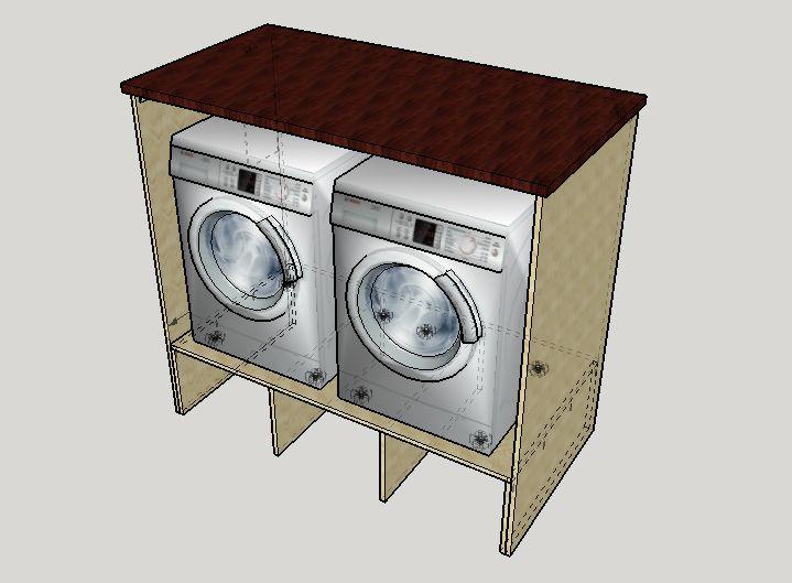 washer and dryer pedestal surround tutorial