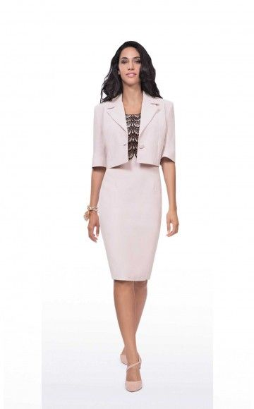 Michaela Louisa 8428/8420, Nude pink with Lace Detail Dress & Jacket. Ladies occasion dress  & Jacket at Blessings Occasion Wear Boutique, Brighton, East Sussex. BN1 5GG. Telephone: 01273 505766