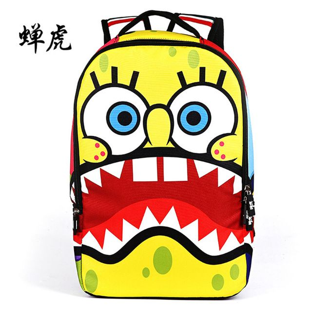 Fair price 2016 New Arrival Hot spongebob cartoon embossing boys and girls students school bags travel backpacks chanhu bag famous brand just only $16.72 with free shipping worldwide  #backpacksformen Plese click on picture to see our special price for you