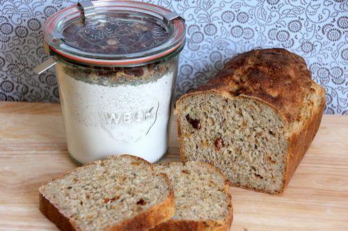 Backmischung im Glas für 'Annas Dolce Vita Brot' aus dem eBook 'Backmischungen im Glas' www.joinmygift.com/ebook