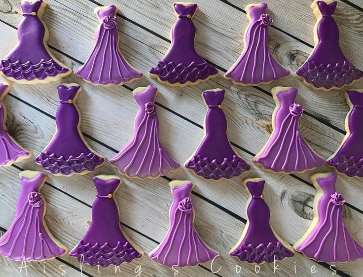 "71 Likes, 4 Comments - Aisling O'Sullivan (@aislingscookies) on Instagram: ""Always a bridesmaid! 💜 #decoratedcookies #weddingshower #sugarcookies #edibleart #cookieart…"""