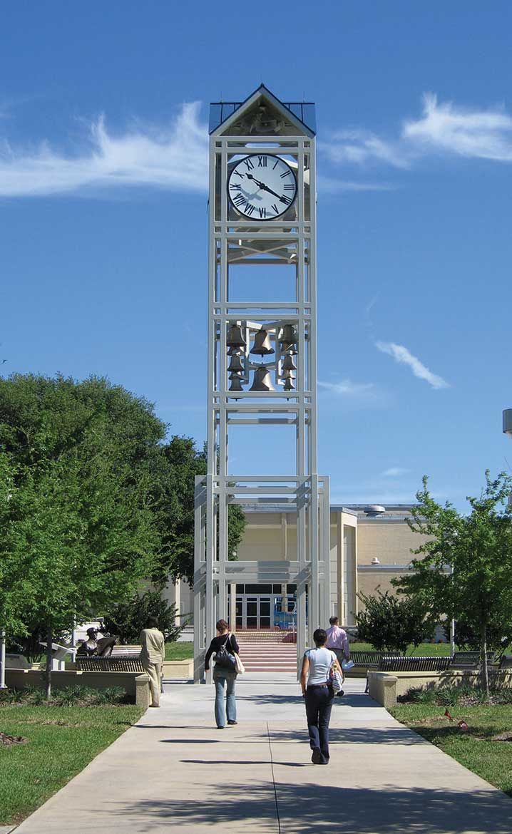College Of Central Florida Custom Bell Tower With 14 Bell Chime And Tower Clocks Em 2020