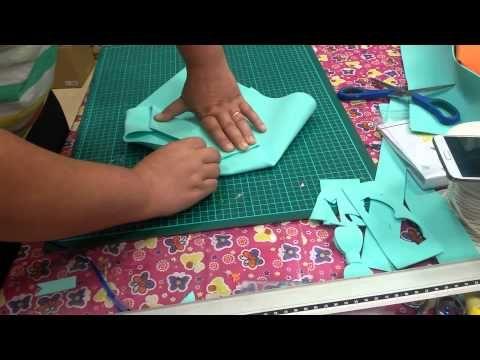 tutorial borsa con manici in gomma creplafommy