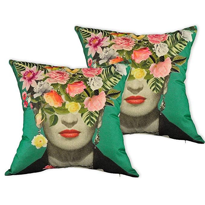 Multiart Set Of 2 Decorative Throw Pillow Covers For Couch Sofa