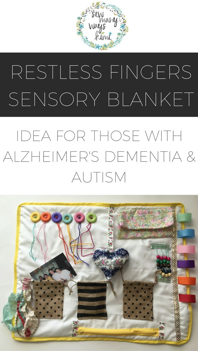 Alzheimer's Sensory Fidget Blanket - Idea For Those With Dementia, Autism & Restless Fingers