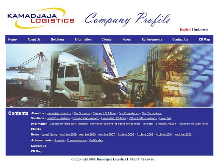 CD Company Profile PT. Kamadjaja Logistics (cover page)